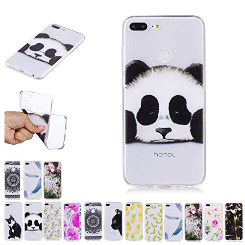 E-Mandala Huawei Y5 2018 Hülle Ultra Dünn Slim Durchsichtig Silikon Schutzhülle Handy Tasche Etui Handyhülle Transparent mit Muster - Panda