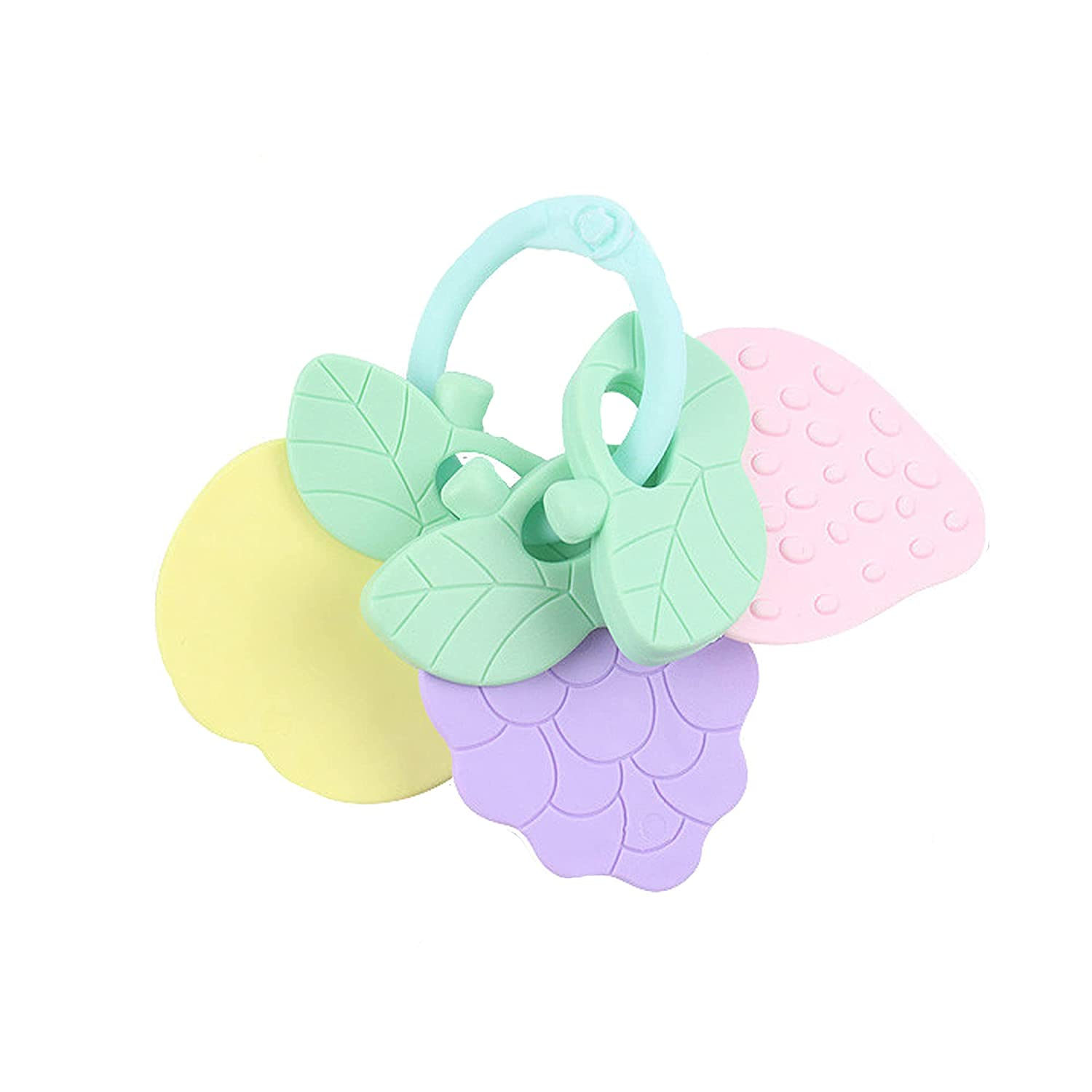 Baby Fruit teether molars Mother and Baby Toys (Multicolor)