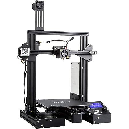 Imprimante 3D Creality Ender 3 Pro (Ender 3 améliorée) avec Alimentation Meanwell, Plaque magnétique Flexible, Travail d'impression de CV avec Filament PLA, PETG, ABS 220x220x250mm