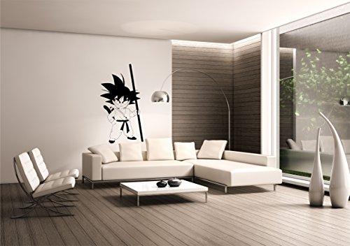 Saphir Design Wandtattoo Songoku, WT11 55x100cm Schwarz Matt