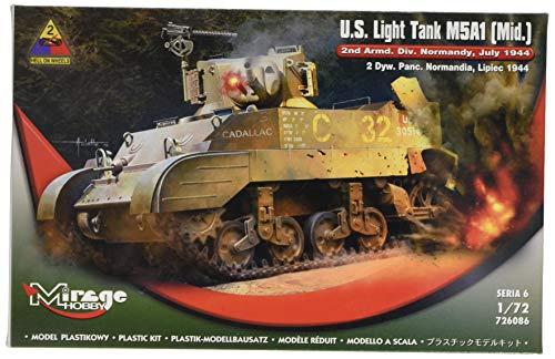 Mirage Hobby 726086 – Modèle Kit U S Light Tank M5 A1 Mid