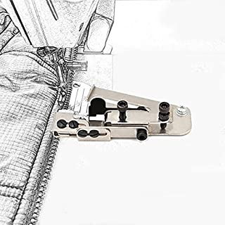 JayveeUS Zipper Adjustable Sewing Presser Foot Attachment Zipper Invisible Line Positioning Guide for Sewing Machine Knitt...