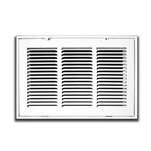 12' X 30 Steel Return Air Filter Grille for 1' Filter - Removable Face/Door - HVAC DUCT COVER - Flat Stamped Face - White [Outer Dimensions: 14.5 X 31.75]