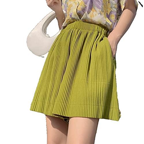 Pantalones Cortos de Yoga Pantalones Cortos para Mujer Verano sólido Color Suelto Pantalones Cortos de Cintura Alta Ropa Deportiva Femenina 2021 Ropa Casual Moda Pantalones Cortos para Mujeres