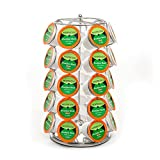 Mixpresso 35 K-Cup Holder, Strong Spinning Carousel, Coffee K Cups & Single-Serve Pods Organizer, KCup Coffee Pods Holder, Strong Coffee Cup Holders for Counter