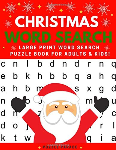 Christmas Word Search: Large Print Word Search Puzzle Book For Adults And Kids