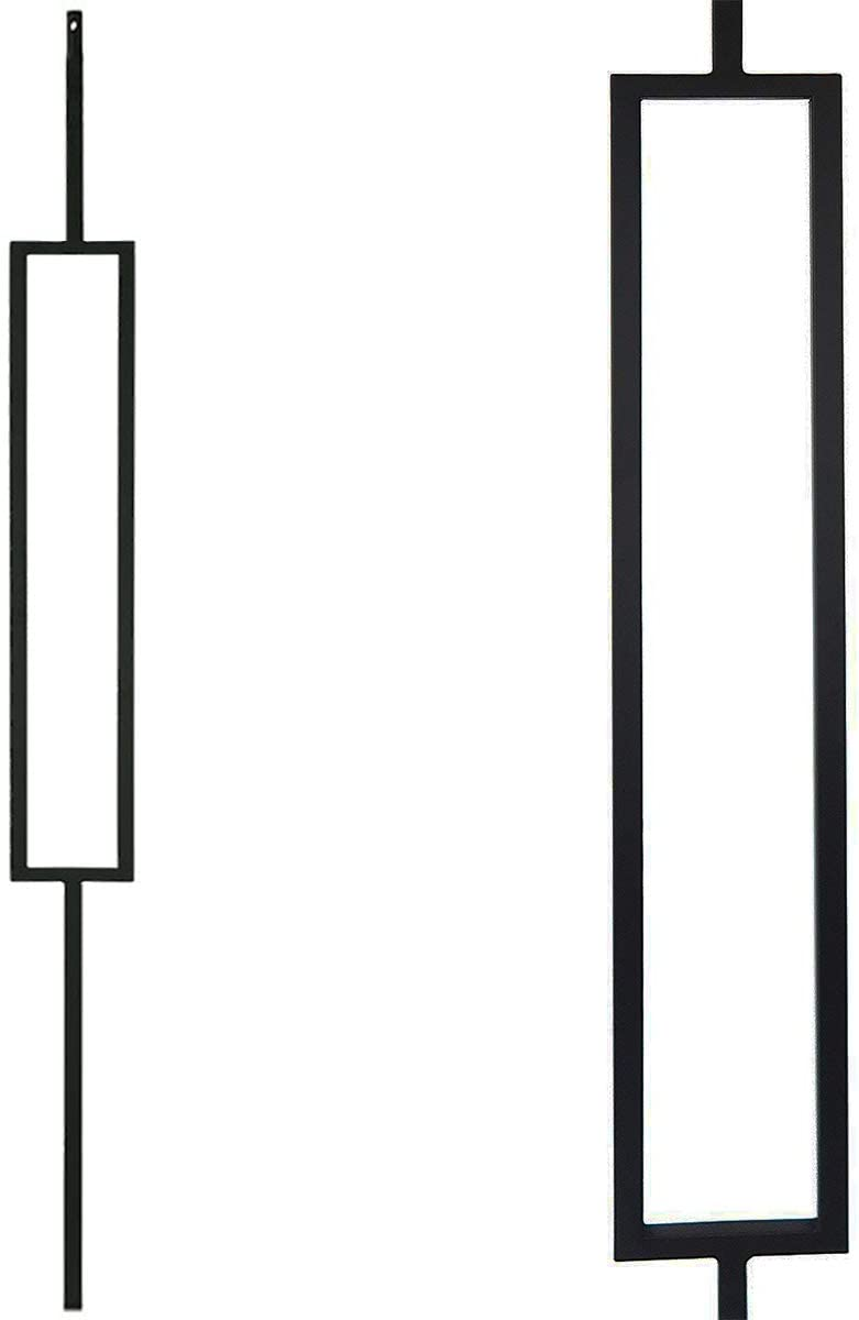 Contemporary Rectangle Stair Wrought Indefinitely 10-Pack Iron It is very popular Mo Balusters