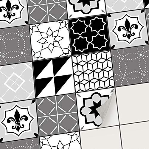 creatisto Fliesenfolie Fliesenaufkleber Mosaikfliesen - Klebefolie Aufkleber für Wand-Fliesen I Stickerfliesen - Mosaikfliesen für Küche, Bad, WC Bordüre (10x10 cm I 9 -Teilig)