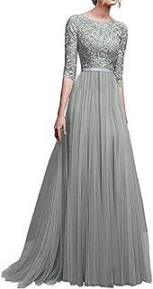ReooLy Frauen Formale Chiffon ärmellose Abschlussball-Abend-Partei-langes Maxi-Kleid