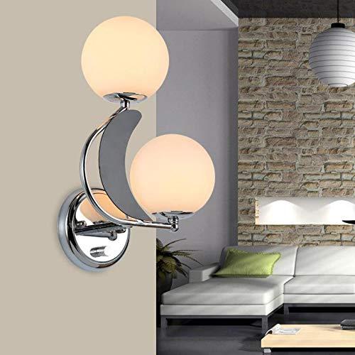 Applique Murale Interieur Décoration Lampe Salon Unique Et Roman Led Maison E27 110V 220V Livraison Gratuite Boule De Verre Gauche