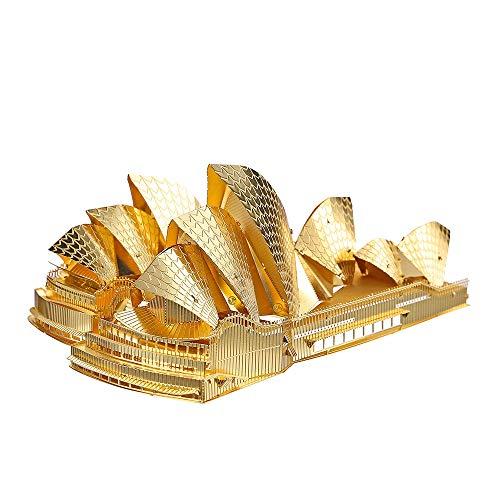 Piececool 3D Metal Model Kits-Sydney Opera House-Famous Landmarks Architecture Model Kit-DIY 3D...