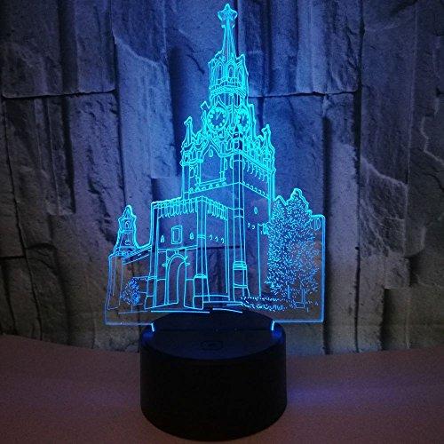 Incroyable Effet 3D Illusion Optique 7 Changement De Couleur Tableau Lampe LED Night Light Cadeau De Noël 3W, Tour De L'horloge