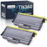 OfficeWorld Compatible Toner Cartridge Replacement for Brother TN360 TN-360 TN330 for Brother HL-2170W HL-2140 MFC-7840W MFC-7340 MFC-7345N DCP-7040 DCP-7030 DCP-7045N (Black, High Yield, 2-Pack)
