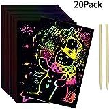 COONC 8-Pack Rainbow Scratch Art Notes; Scratch...