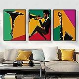 Leinwand Wandkunst Bunte Trompete Poster Vintage