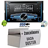 JVC KW-R520E - 2DIN Autoradio Radio - Einbauset für Dacia Duster ab 2013 2DIN - JUST SOUND best choice for caraudio