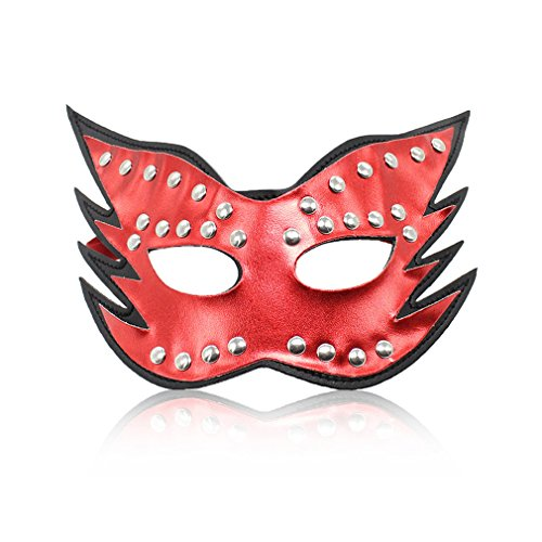 Wiftly Masque Réglable de Cuir Bandeau pour Adultes Cosplay Mascarade Masque Sexy Jeux SM Bondages Blindage de oeil (C)