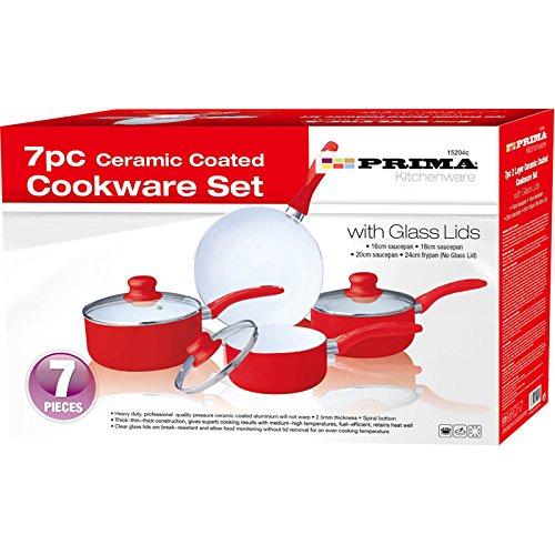 Prima - Batería de cocina (7 piezas, revestimiento de cerámica), col