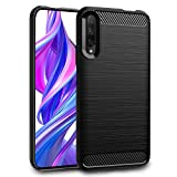 Dzxouui Compatible with Huawei Honor 9X Case,Huawei Honor 9X Pro Case,Protective Phone Cover Shockproof Soft TPU Case for Huawei Honor 9X/9X Pro(DL-Black)