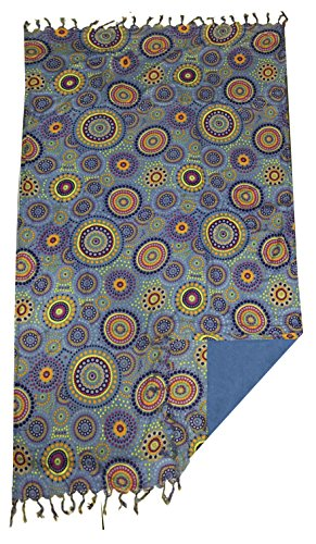 TEXTIL TARRAGO Toalla pareo estampada 95x170 cm círculos azul