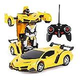 Volwco Remote Control Car, Car to Robot Mode Deform 2 in 1 Models