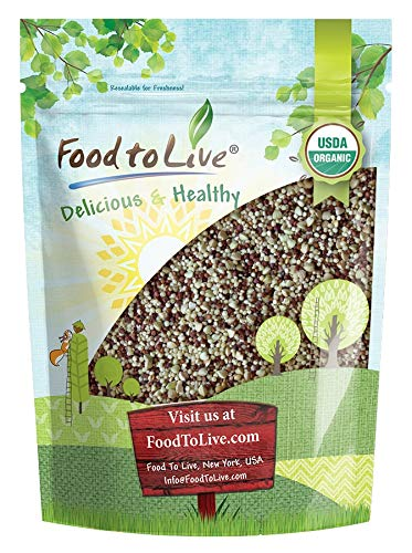 Organic Super Grains Blend, 3 Pounds — A Mix of Millet, Buckwheat, Red and White Quinoa. Non-GMO, Non-Irradiated, Vegan Superfood, Bulk