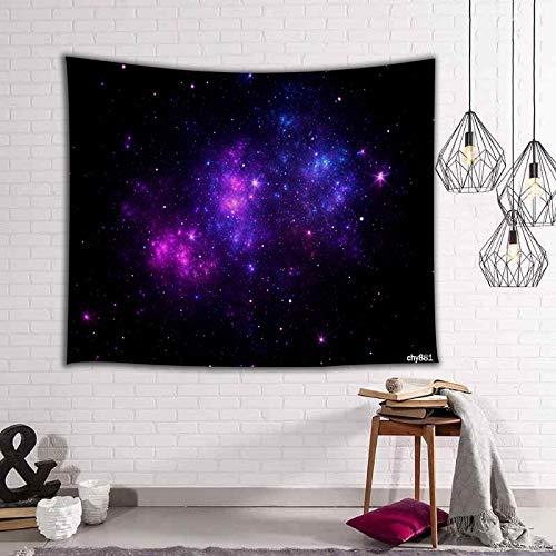 WERT Tapiz de Galaxia Espacio cósmico Cielo Estrellado decoración de la Sala de Estar Tapiz de Pared decoración del hogar Tela de Fondo A5 73x95cm