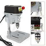 Tischbohrmaschine HaroldDol Ständerbohrmaschine tragbar mini Tisch Bohrer mit Bohrfutter und 2 Inbusschlüssel (340W, 0-16000RPM, Bohrdurchmesser: 0,6-6,5 mm / 0,02-0,26 Zoll, Maximaler Hub: 25 mm)
