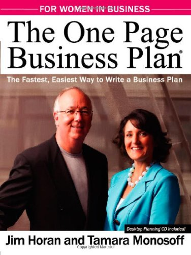 Compare Textbook Prices for The One Page Business Plan for Women in Business  ISBN 9781891315015 by Jim Horan,Tamara Monosoff