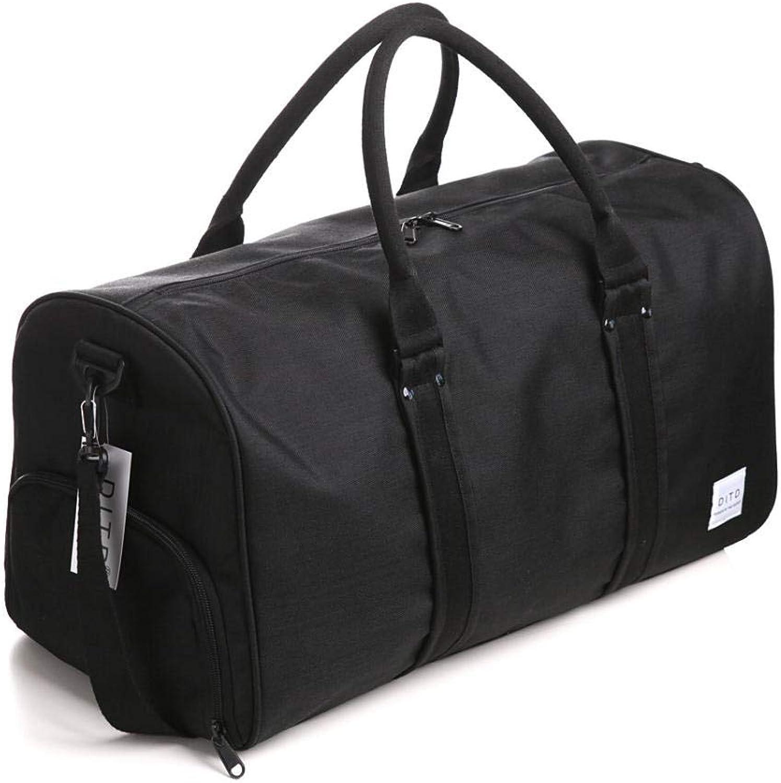 Reisetasche, Schwimmbadtasche, Sporttasche, gerumige und komfortable Sporttasche, geeignet für Wochenenden, Camping, Jede Reise@Schwarz_Medium