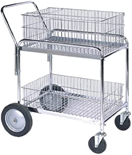 Wesco Industrial Products 272230 Deluxe Compact Wire Office Cart, 200-lb. Load Capacity, 33.5