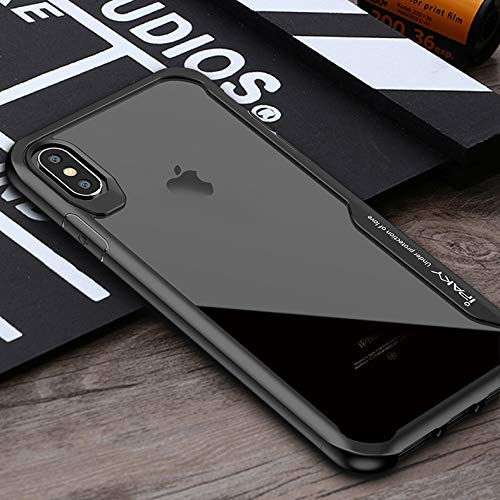 iPaky Survival TPU Case Robust Transparent Schutz Hülle Handy Cover Anti-Shock Schwarz für Apple iPhone XS Max