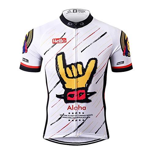 Thriller Rider Sports® Herren Aloha White Sport & Freizeit MTB Fahrradbekleidung Radtrikot 3X-Large