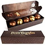 Bombombs Hot Chocolate Bombs, Includes Fudge Brownie and Caramel Candy Cocoa Bombs Filled with Marshmallows, Pack of 5