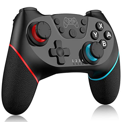 Inalámbrico Mando para Switch, RegeMoudal Bluetooth Controlador para Switch, Switch Gamepad Joystick con Batería Recargable, Vibración, Turbo, Giroscopio Función para Switch  Lite