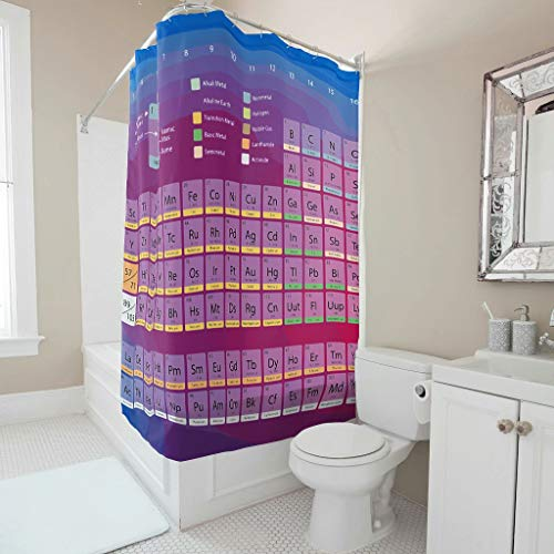 Charzee Douchegordijn met tijdloos patroon, modern gordijn voor badkuip, 200 x 200 cm