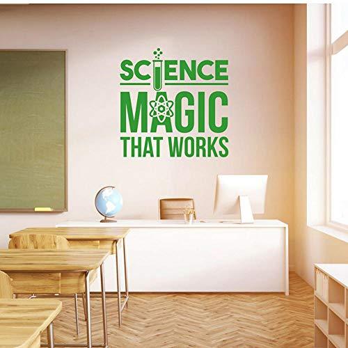 Adesivo da parete per scuola scienza magica in vinile adesivo da parete per la decorazione della scuola materna adesivi da parete camera da letto, 42 x 42 cm