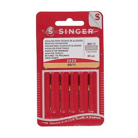 Singer Universalnadel 2020 80/11 Nadel, Metall, Silber, 7 x 0,03 x 4 cm, 5-Einheiten