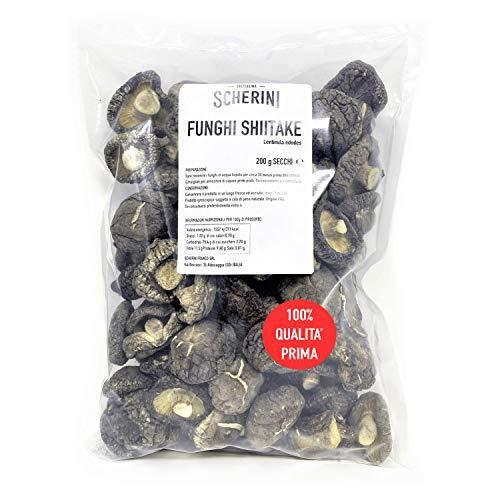 Scherini Valtellina - Raffinati funghi Shiitake secchi per buongustai 200g