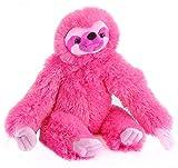 Wild Republic Three-Toed Sloth Plush, Stuffed Animal, Plush Toy, Gifts For Kids, Pink, Cuddlekins 12'