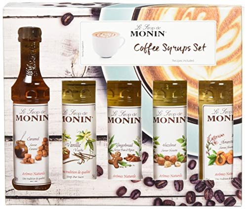 MONIN Premium Coffee Syrup Gift Set 5 cl (Pack of 5)