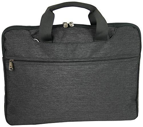 """BAG STREET INTERNATIONAL Netbook Notebook Laptop Tasche 16\"""" Zoll Businesstasche Colleg-Mappe Unisex gepolstert mit Schultergurt und Tragegriff anthrazit grau dunkelgrau…"""