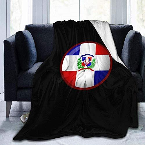 Votovcom Anime Throw Blanket Flagge der Dominikanischen Republik Super Soft Lightweight Cosy Microfiber Fleece Sherpa Decke für Bed Couch Chair Wohnzimmer-All Season
