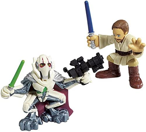 Hasbro - 85400 - Star Wars Galactic Heroes Mini-Figuren 2er Pack - Obi-Wan Kenobi und General Grievous