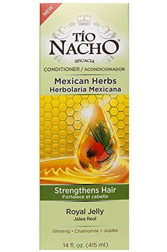 Tío Nacho Hierbas Mexicanas Acondicionador Royal Jelly, 415 ml (14 onzas fluidas) - Fortalece el cabello; con ginseng, manzanilla y jojoba [Tio Nacho Mexican Herbs Royal Jelly Conditioner]