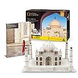GHmarine Rompecabezas 3D Atracciones de fama Mundial, Modelo de construcción de la Ciudad, ensamblaje Juguetes educativos para niños (Taj Mahal, India)