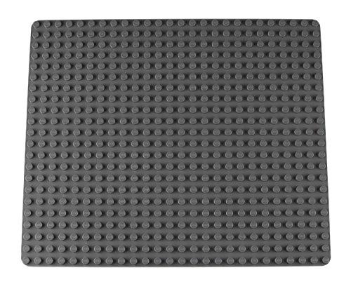 """Strictly Briks - Stapelbare Premium-Bauplatte - kompatibel mit Bausteinen Aller führenden Marken - nur für Steine mit großen Noppen geeignet - 16,25"""" x 13,75"""" (41,3 x 34,9 cm) - Grau"""