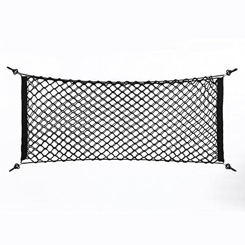 Keenso Filet de rangement universel en nylon pour coffre de voiture Noir 100 × 40 cm