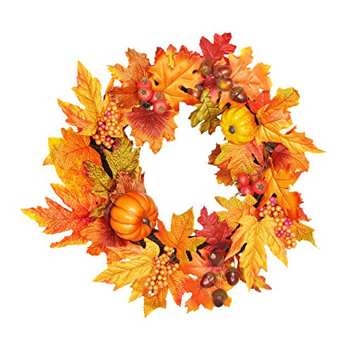 FloristryWarehouse Artificial Autumn Wreath 40cm/16 Inch Diameter