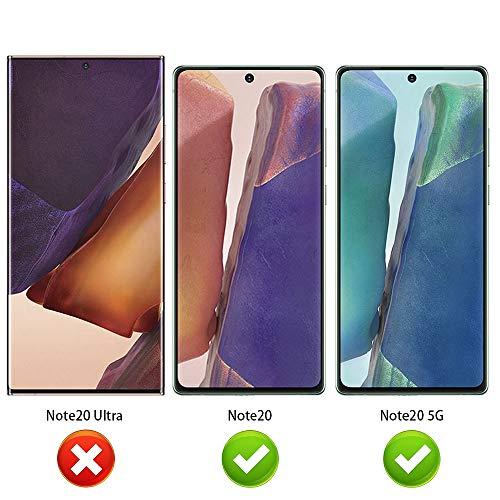 ANEWSIR 3 Stück Panzerglas Schutzfolie für Samsung Galaxy Note 20/Note 20 5G Displayschutzfolie, Ultra-klar Displayschutz, Anti Bläschen, Displayschutz Folie für Galaxy Note 20/Note 20 5G.